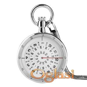 Džepni sat Numerički displej Silver