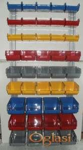 Kutije sa zidnim nosačem set 42 kom