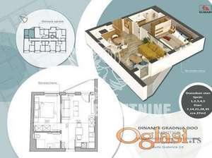 Dvosoban stan sa terasom u površini od 37m2 ID#1212
