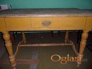 Kačarevo Ćilibar žuta trpezarijski sto