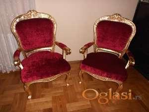 Stilske fotelje,Rokoko,ručni rad,NOVO