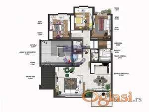 Urbana vila sa 3 stana od 127m2. Cena je sa pdv-om.
