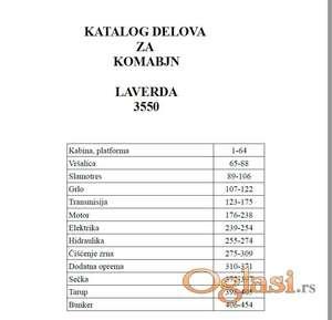 Laverda 3550 - Katalog delova