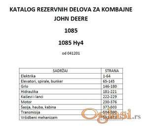 John Deere 1085-1085 Hy4 katalog delova