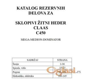 Claas C450 sklopivi heder - Katalog delova