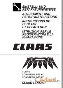 Claas Conspeed FC C - Uputstvo za rukovanje