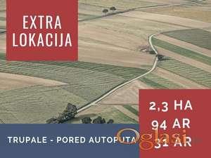 ZEMLJIŠTE - EXTRA LOKACIJA - TRUPALE - AUTOPUT - 3,5 Ha