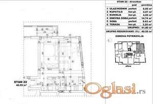 FANTASTIČAN DVOSOBAN STAN 41 m2 IZGRADNJA U BLIZINI CENTRA GRADA-povraćaj PDV-a