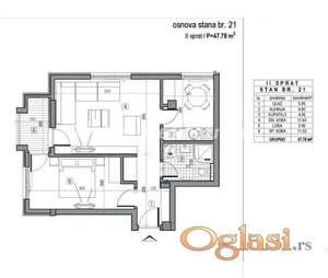LEP DVOSOBAN STAN 48 m2 U NOVOGRADNJI-povrat PDV