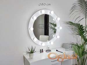 Okruglo Ogledalo sa Sijalicama