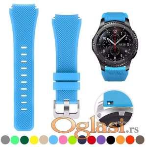 Plava silikonska narukvica Samsung galaxy watch 46 mm