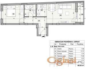 KLISA, 48 m2, 61850 EUR