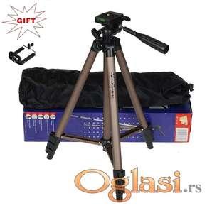 Stativ 130cm za Fotoaparate,Kamere,Projektore, Telefone i slicno +, Torba i Drzac za Telefon