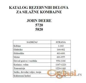 John Deere 5720 - 5820 silažni kombajni - Katalog delova