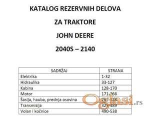 John Deere 2040S - 2140 Katalog delova