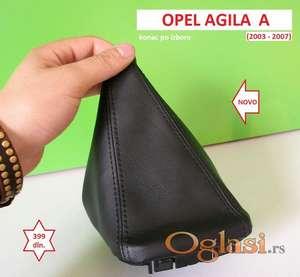 OPEL AGILA A kožica menjača (2003-2007) NOVO konac po izboru