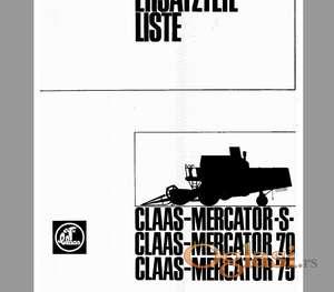Claas Mercator S 70 75  -  Katalog delova