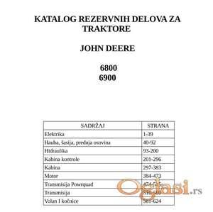 John Deere 6800 - 6900 Katalog delova