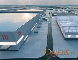Industrijski park; Magacini, Proizvodni pogoni