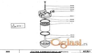 Fiat 550 - katalog delova