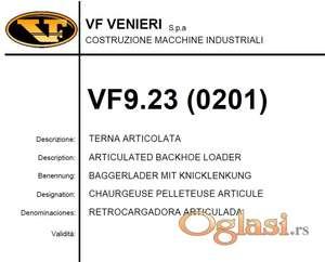 Venieri Vf 9.23 - Katalog delova