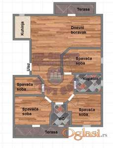 Četvorosoban stan u izgradnji!