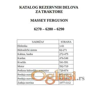 Massey Ferguson 6270 - 6280 - 6290  Katalog delova