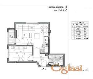 LEP DVOSOBAN STAN 43 m2 U NOVOGRADNJI-povrat PDV