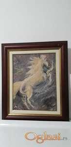 Konj na platnu u ulju