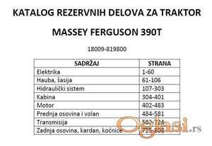 Massey Ferguson 390T - Katalog rezervnih delova