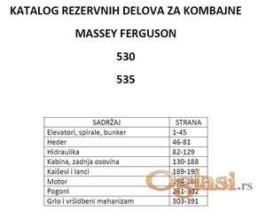 Massey Ferguson 530-535 katalog delova