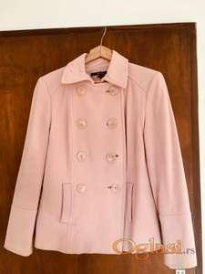 Zara roza stofani kaputic