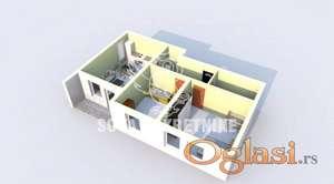 Trosoban stan u novogradnji Kertvaroš ID#1100