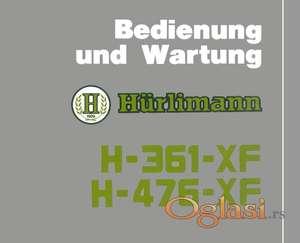 Hurlimann 361 XF - 476 XF Uputstvo za rukovanje i održavanje