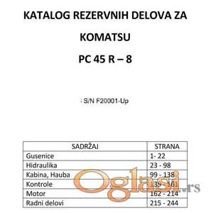 Komatsu PC45R-8 Katalog delova