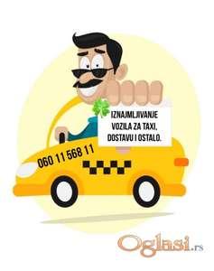 Iznajmljivanje vozila za taxi, dostave i ostalo.