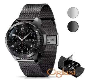 Metalna crna narukvica Samsung galaxy watch 46 mm