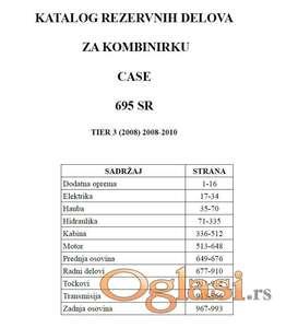 Case 695 SR Tier3 kombinirka  - katalog delova