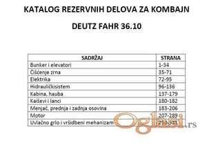 Deutz Fahr 36.10 - katalog delova
