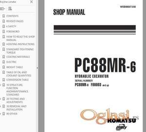 Radionički priručnik za Komatsu PC88MR-6