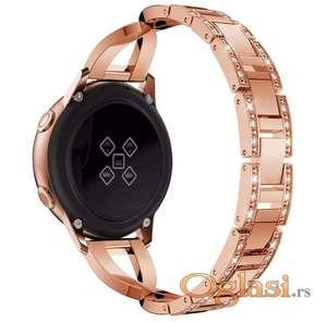 Metalna narukvica 20 mm sa cirkonima za Samsung smart watch