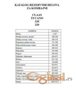 Claas Tucano 330 - 320 Katalog delova
