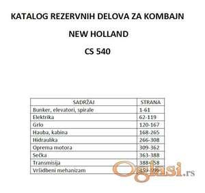 New Holland CS 540 - katalog delova
