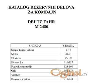 Deutz Fahr M 2480 - Katalog delova