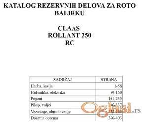 Claas Rollant 250 RC - Katalog delova