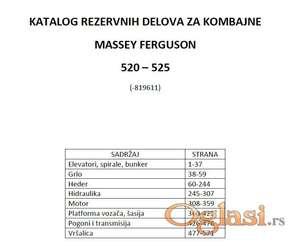 Massey Ferguson 520 - 525  katalog delova