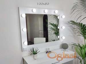 Ogledalo za šminkanje sa sijalicama
