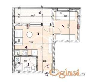 Manji jednoiposoban stan u novogradnji! ID#1950