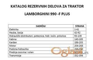 Lamborghini 990 F Plus Katalog rezervnih delova