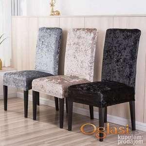 Plišana navlaka za stolice
